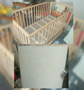 Детская кровать Икеа и матрас.