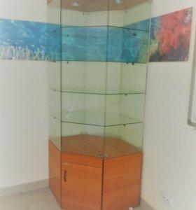 Шкаф стеклянный