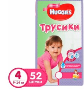трусики Huggies 4 (9-14 кг) - 52 шт