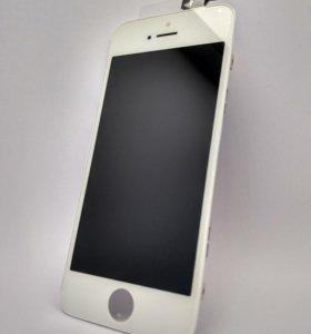 Дисплей на Iphone 5 (белый)