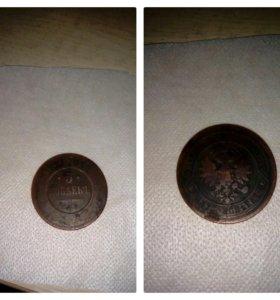 28*10р(биметалл) и 5 копеек 1881 года