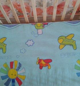 Кроватка с матрасам