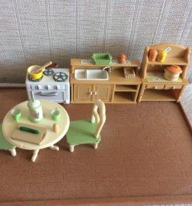 Кухня+кролик с холодильником из серии sylvanian