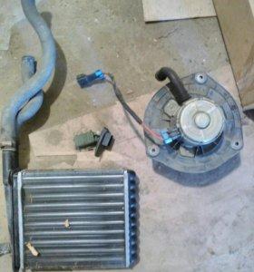 Мотор и радиатор отопителя ВАЗ-2110