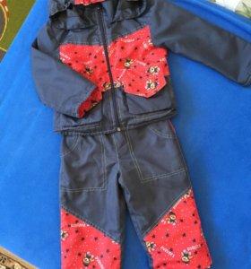 Болоневый костюм 86-92см