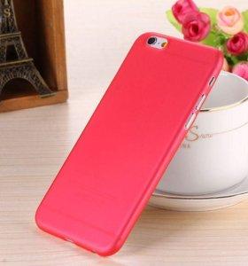 чехол Iphone 6,6s пластик. Цвет красный