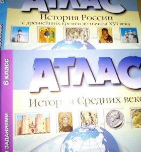 Атлас+контурные карты 6 класс ФГОС