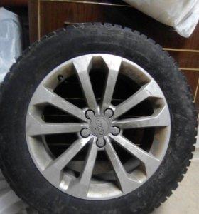 Оригинальные диски с зимней резиной Audi Q5