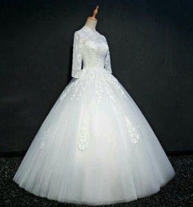 Свадебное платье пол заказ