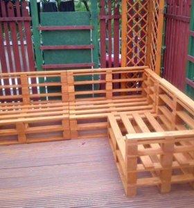 Производство мебели из полетов Wood art Pallet
