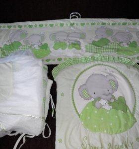 Бортики и балдахин для кроватки