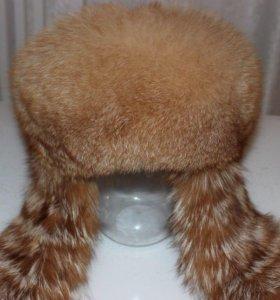 Шапка боярка из меха степной лисы