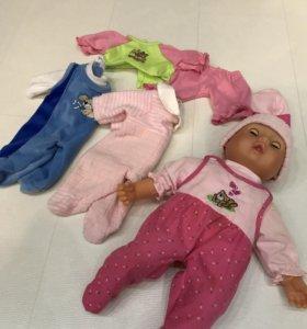 Кукла пупс с одеждой, 36см