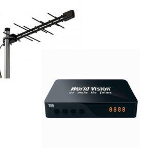 Комплект Приставка + Антенна (кабель и разъемы)