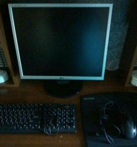 Монитор+клавиатура+мышка
