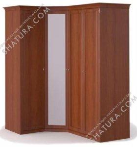 Угловой шкаф с зеркалом + 3 двери пр-во Шатура.