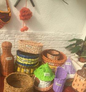 Корзиночки плетеные