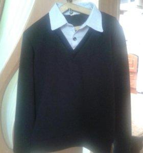 Рубашки желетка галстук и свитер