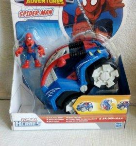 Человек-паук с машинкой
