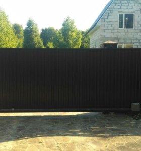 Откатные ворота 4Х2 без привода
