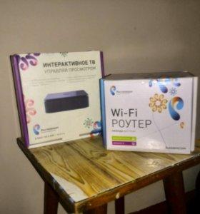 Wifi роутер+ТВ-приставка от Ростелеком