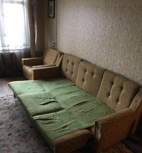 Срочно! Диван-кровать + кресло
