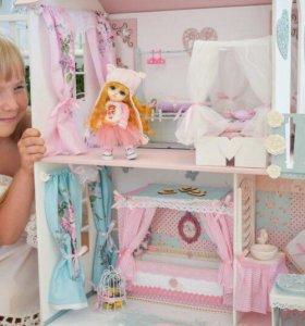 Дом кукольный Шебби шик с мебелью