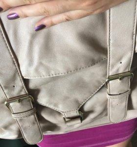 Стильная сумка пудрового цвета 👛