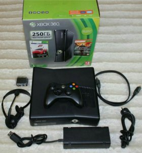 XBOX 360 Slim (250Gb) + Джойстики (2 шт.) + Kinect