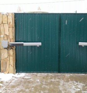 Распашные ворота с автоматикой 4Х2