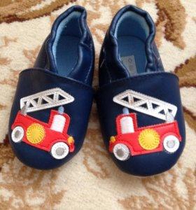 Обувь для малыша с подошвой из ткани