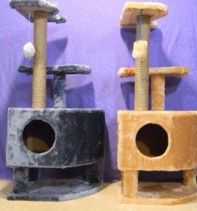 Домик на ножках с когтеточкой