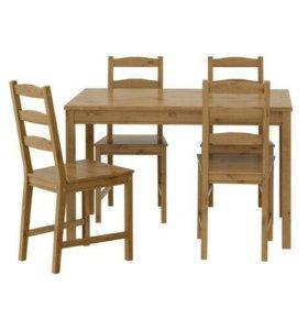4 стула + стол ИКЕА
