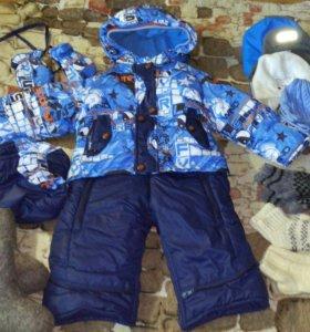 Детский зимний комбинезон-трансформер от 0до 1,5 л