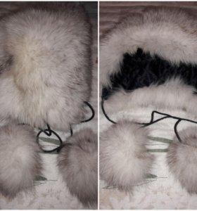 Детская зимняя шапочка.мех натуральный.
