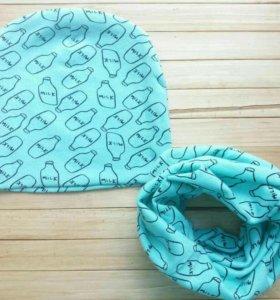 Комплекты(шапочка+шарф-снуд)