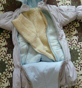Детский Комбинезон-трансформер осень-зима 74-80