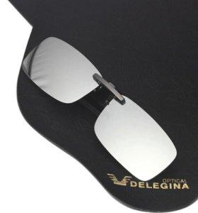 Насадка на очки от солнца.