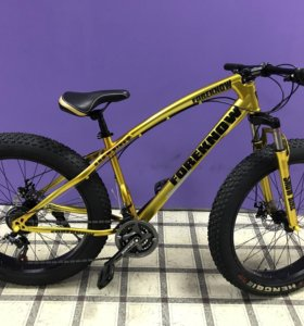 Велосипед фетбайк золотой