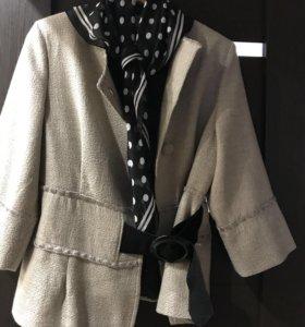 Новый жакет р48+платок в подарок 🎁👍🏻👍🏻👍🏻