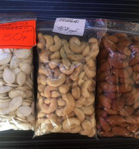 Орехи, цукаты, сухофрукты