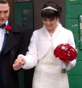 Шубка свадебная красивая