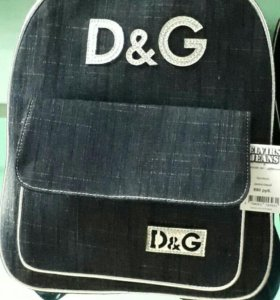 Стильный молодежный джинсовый рюкзак. Новый.