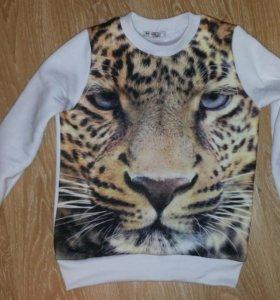 Свитшот Тигр (флис) белый