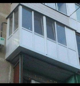 Балкон полностью из пластика П-1