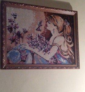 Картина из бисера ручной работы