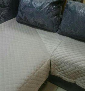 Покрывало на угловой диван.