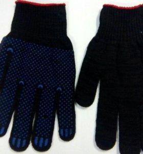 Перчатки для работы черные