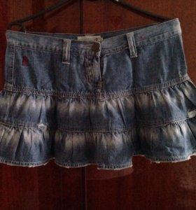 Юбки джинсовые 2 шт