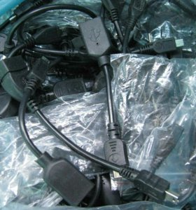 кабель OTG-micro USB 10шт